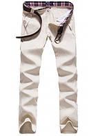 Мужские штаны брюки YhHomme бежевые