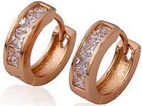 Серьги Gold Filled с цирконами (GF17)