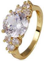 Кольцо Lady позолота Gold Filled с цирконами (GF450) Размер 17 и 18