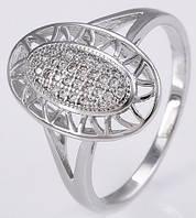 Кольцо Сумерки белая позолота с цирконами GF890 разм 18