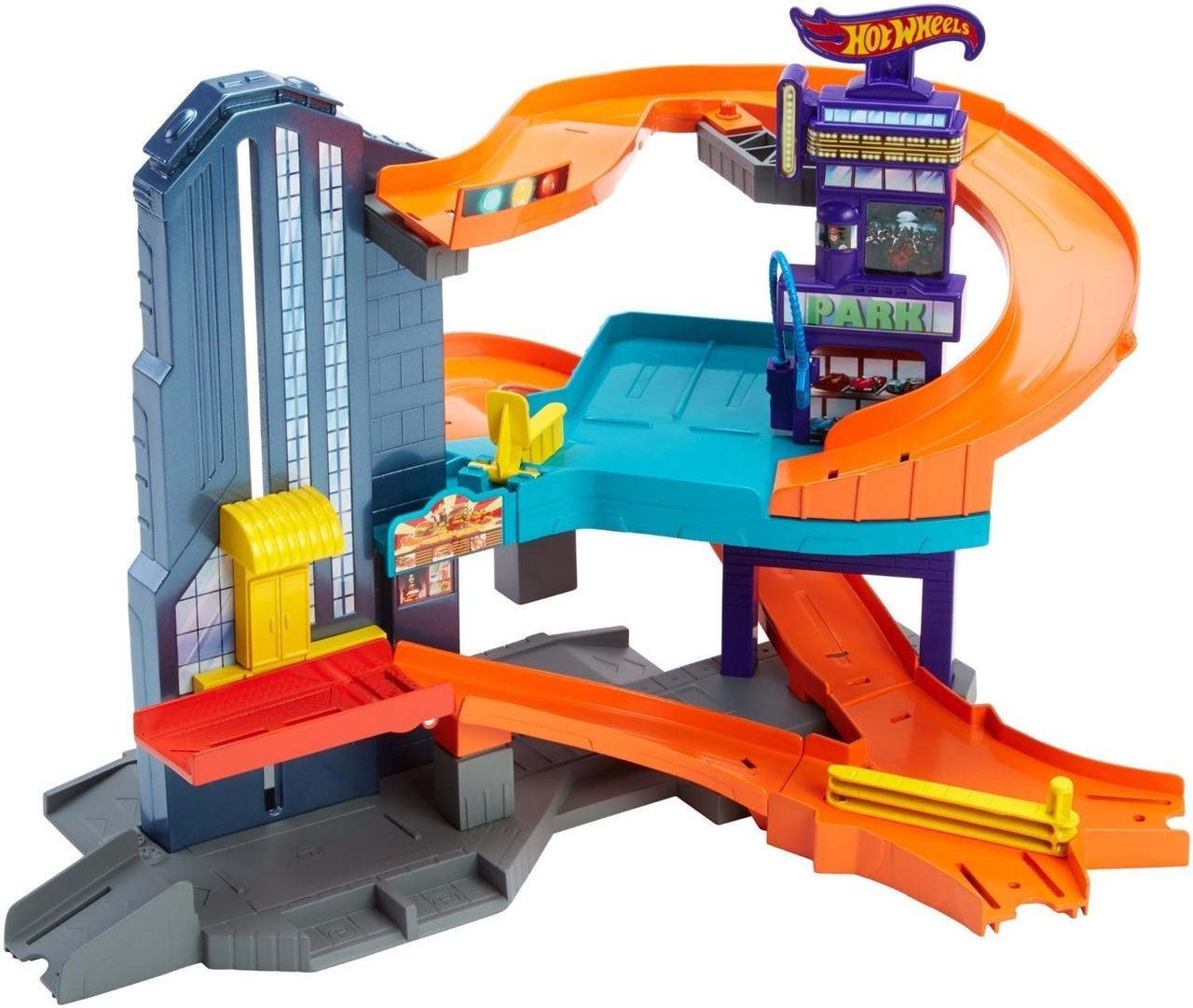 Hot Wheels  Трек Город Скорости Спидтрополис Workshop Track Builder Speedtropolis Track Set Mattel 03937