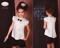 Атласная блузка для девочки Baby Angel 662