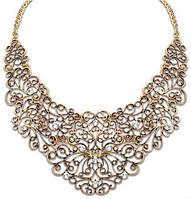 Ожерелье колье бронзовое с кристаллами tb1210