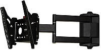 Кронштейн Квадо К-133. Наклонно-поворотное (с коленом) настенное крепление для ТВ 15-37``