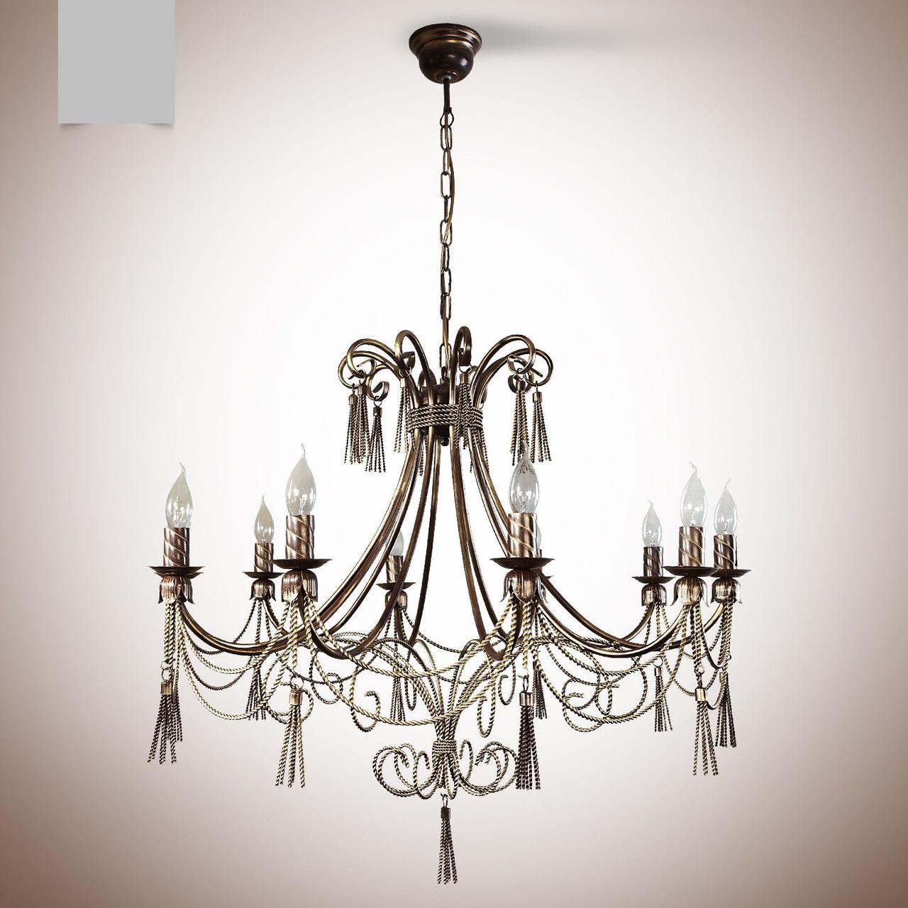 Люстра классическая со свечами в большую комнату 1310-1