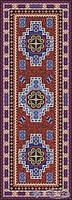 "Сolibri mosaic панно Сolibri mosaic ""Турецкий ковер"" изделие из стеклянной мозаики в хаммам 243,5x91"