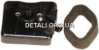 Заслонка воздушного фильтра мотокосы (в сборе, + элемент воздушного фильтра)