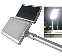 Светильник на солнечной батарее 20 LED с датчиком освещенности для наружного освещения