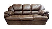 """Мягкий тканевый раскладной диван """"Аляска"""", коричневый (220см)"""