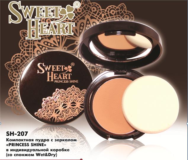 Пудра з дзеркалом Princess Shine Sweet Heart
