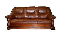 Кожаный диван Grizzly, раскладной диван, мягкий диван, мебель из кожи