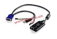 Модуль удлинителя, SVGA+KBD+MOUSE USB 2.0+AUDIO, 150 метр., для подключения компьютеров к п (KA7176)