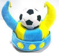 Шляпа фаната футбола с мячом, товары для болельщиков, сборная Украины