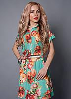 Женское платье с шикарными цветами