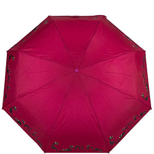 Зонт женский компактный автомат ZEST (ЗЕСТ)  Z24759-12 Розовый Анитиветер