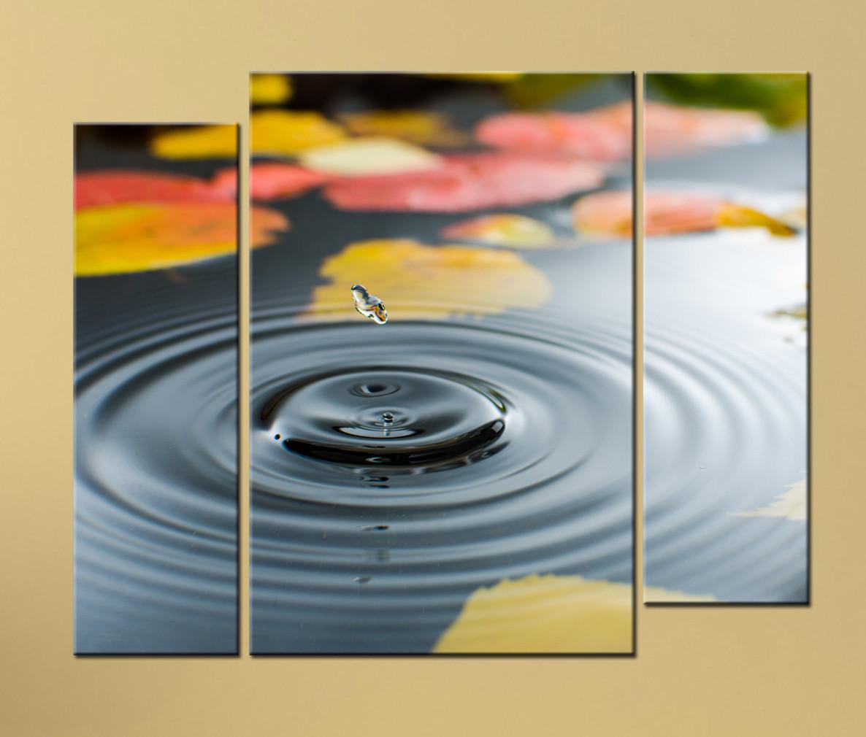Модульная картина Капля чистой воды
