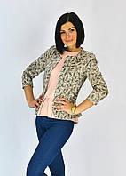 Пиджак молодежный в модный принт