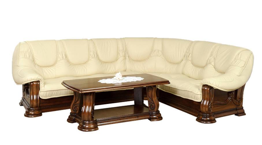 """Кожаный угловой диван """"Гризли"""" Курьер"""