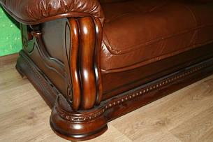 Угловой кожаный диван Grizzly, мягкий диван, мебель из кожи, фото 2