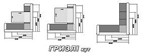 Угловой кожаный диван Grizzly, мягкий диван, мебель из кожи, фото 3