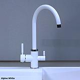Двоканальний кухонний змішувач Fabiano FKM 31.3 в кольорах гранітних мийок, фото 3