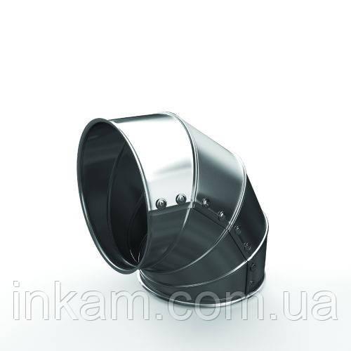 Отвод оцинкованный для труб диам 377 мм толщина изоляции 50 мм