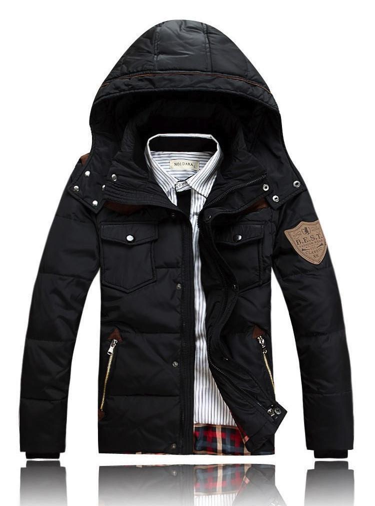 4d23367211d Мужская куртка-аляска на пуху Черный - moishop интернет-магазин в Каменском