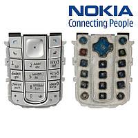 Клавиатура для Nokia 6230, серебристая, оригинал