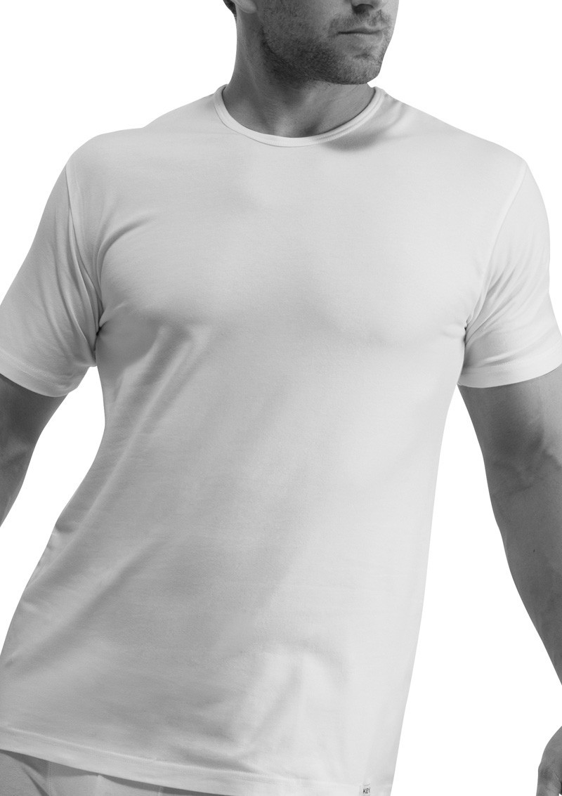 Мужская хлопковая футболка Key MVK 017 BI (Кей), Польша 1 шт