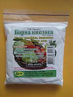 Борная кислота для овощей 0,1кг ( средство борьбы с тараканами и насекомыми) Фунгицид Борная Кислота