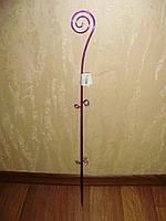 """Опора для орхидей """"Спираль"""" фиолетово-прозрачная h=64см"""