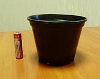 Пластиковый стаканчик для рассады d=100мм черный