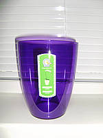 """Кашпо """"Орхидея"""" фиолетово-прозрачное V=1,8л (d=15см h=17см)"""