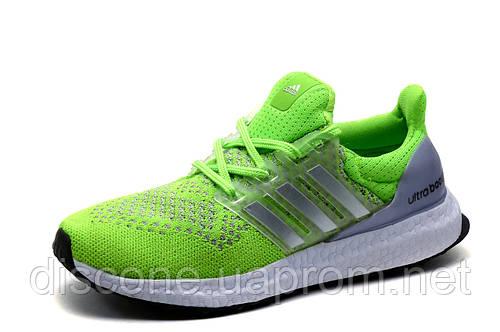Кроссовки Adidas Ultra Boost, унисекс, салатовые