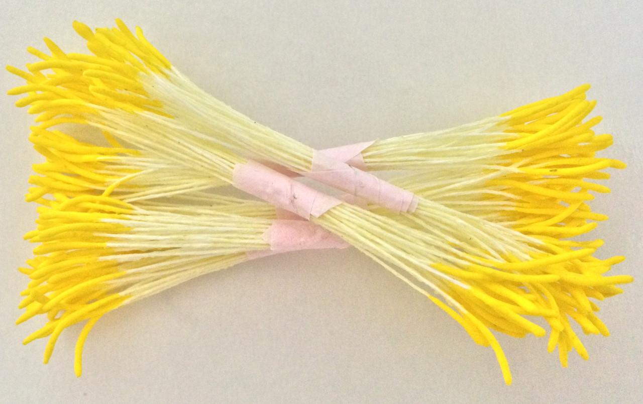Тычинки для цветов желтые острые 25шт. Украина - 01157