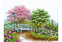 """Набор для вышивки крестом """"Цветущий сад"""""""