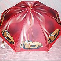 Зонт детский  с машинами трость