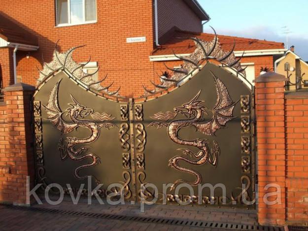 Эксклюзивные кованые ворота, код: 01083
