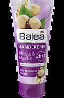 Крем +маска для  рук Balea Handcreme 2in1 Pflege & Maske mit Macadamia-Nussöl, 100 ml