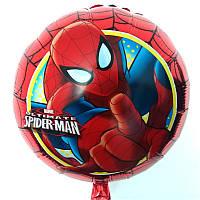 Фольгированные воздушные шарики Человек Паук красный