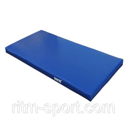 Мат спортивный 200*100*10 см, ПВХ, фото 2