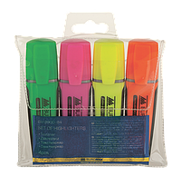 Buromax Набор из 4-х тект маркеров, флуоресцентные цвета.  арт. BM.8900-94