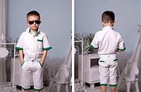 Детские костюм для мальчика Белый рубашка и шорты