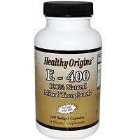 Витамин E-400 для иммунитета Healthy Origins, 180 капсул