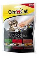 Лакомства GimCat Nutri Pockets Malt-Vitamin Mix для кошек микс вкусов, 150 г
