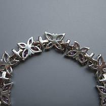 Cеребряный женский браслет с фианитами, 170мм, фото 3
