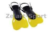 Ласты тренировочные с открытой (пяточный ремень)Dorfin PL-480(р-р ML 38-43, L-XL 42-45,желтый, красный)