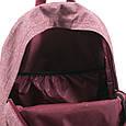 Компактный городской рюкзак из меланжа 14 л. Bagland 533692-2, вишневый, фото 8