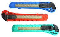 Нож канцелярский пластиковый (12шт./уп)
