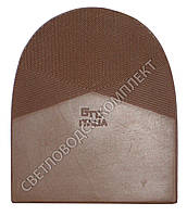 Набойка резиновая мужская GTO Italia (Китай), т. 6.6 мм, р.13-14, цв. коричневый